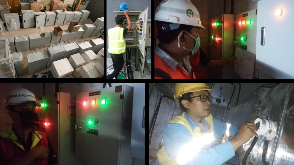 instalasi panel, instalasi sistem, sistem sensor panel, sensor dan kontrol panel